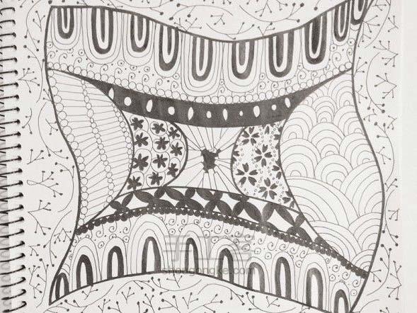 手工绘画:禅绕画