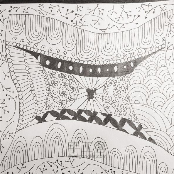 手工绘画:禅绕画 第23步